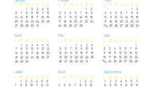Calendrier 2014 à imprimer