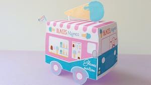 Camion de glaces à imprimer
