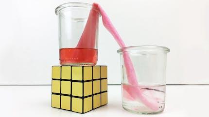 Capillarité : l'eau qui change de verre toute seule