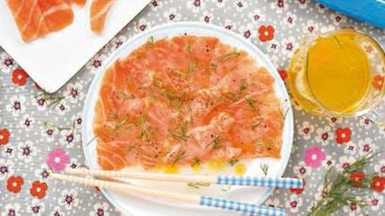 Carpaccio de saumon au citron
