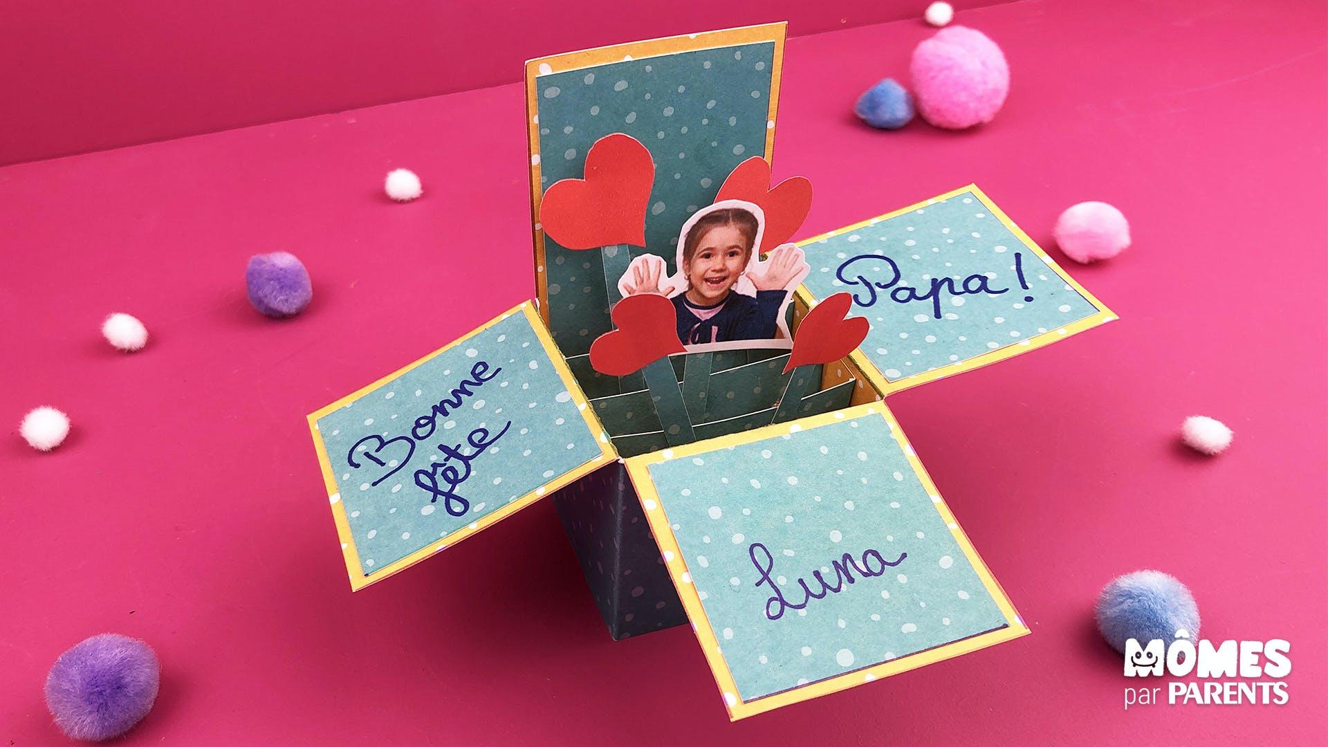 Diy Carte Cube Fete Des Peres Momes Net