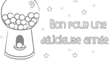 Carte de vœux à bonbons