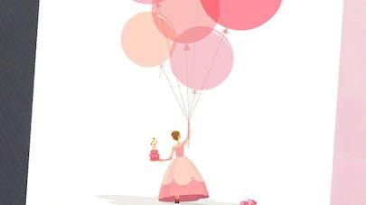 Carte anniversaire princesse à imprimer