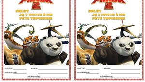 Carte d'invitation Kung-Fu Panda