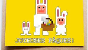 Carte de Pâques - Lapin de Pâques