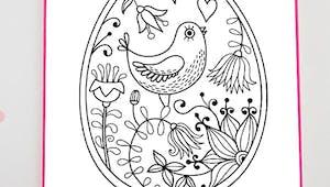 Carte de Pâques - Oeuf à colorier