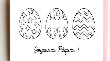 Carte de Pâques - Oeuf
