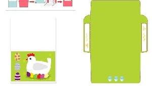 Carte de Pâques - Poulette