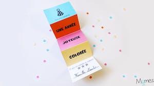 Carte de voeux colorée à imprimer