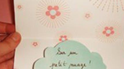 Carte de vœux nuage pop-up