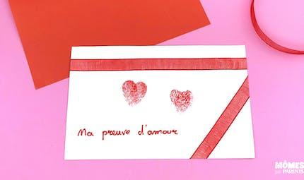 Carte empreinte coeur