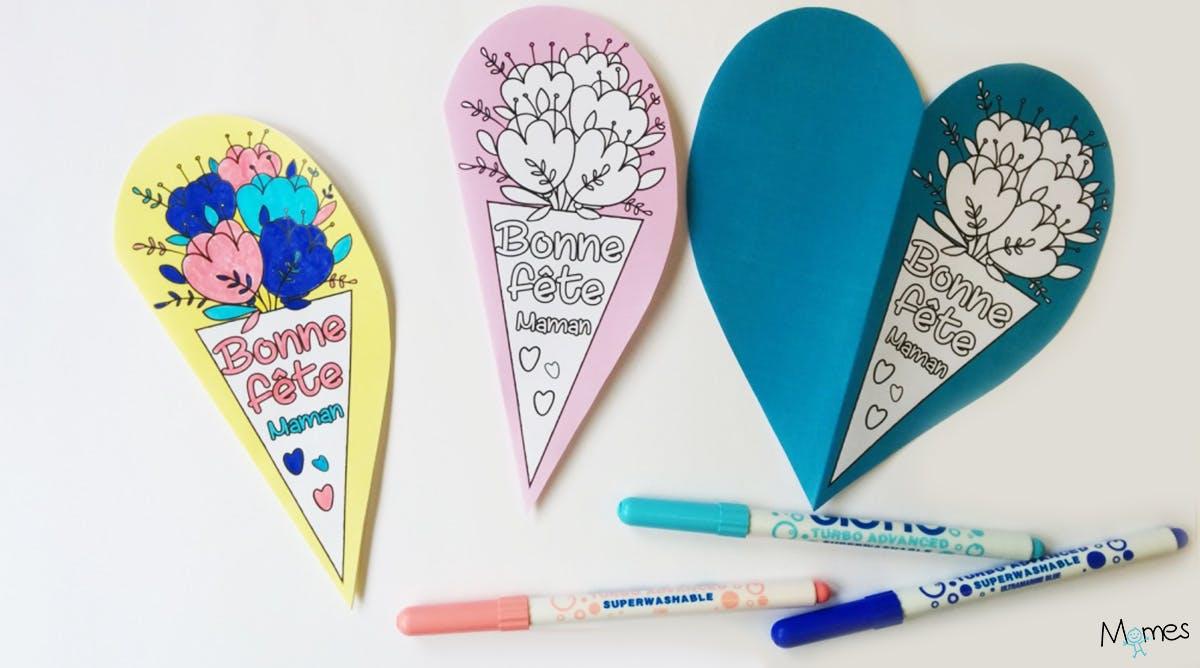 Carte Fête Des Mères Cœur à Imprimer Momes Net