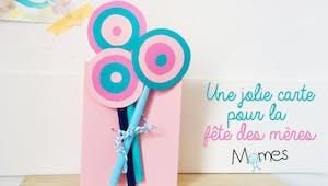 Carte fête des mères : un bouquet rigolo