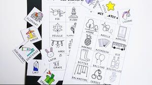 Les cartes mots - imagier maternelle