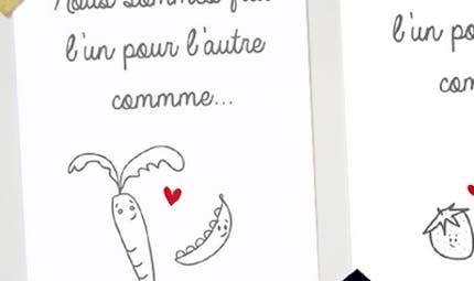 Carte Saint Valentin : On est fait l'un pour l'autre
