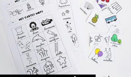 Les cartes mots - imagier cursives