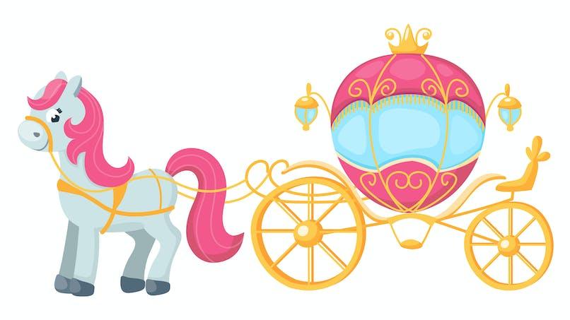 Cheval et carrosse de princesse