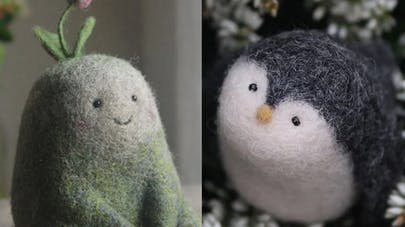 Nastasya Shuljak créatures en laine feutrée       mignonnes
