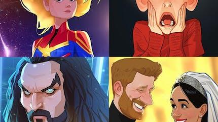 Cet artiste dessine des personnages célèbres en version cartoon !