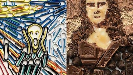 Cet artiste reproduit des tableaux célèbres avec des objets du quotidien et des aliments