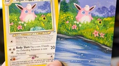 peinture cartes pokémon lunny lunumbra
