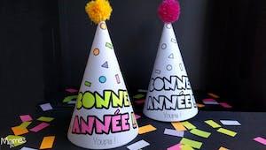 Chapeau de fête du Nouvel an à imprimer !