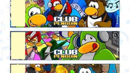 Club Pinguin : bracelets à imprimer