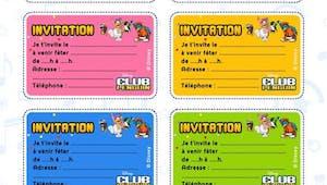 Club Pinguin : cartons d'invitation à imprimer