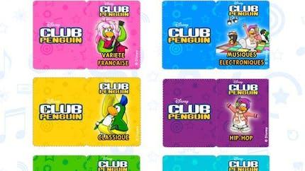 Club Pinguin : jeu du blind test musical