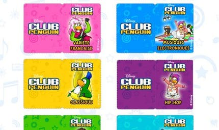 Club Pinguin : jeu du blind test musical