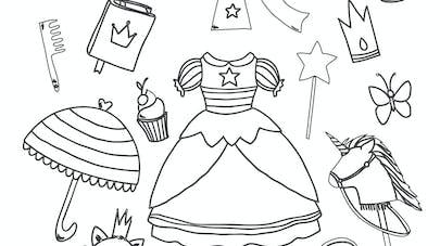 coloriage accessoires princesses