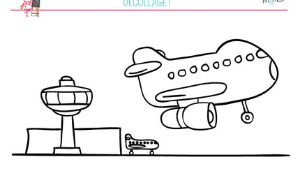 Coloriage aéroport