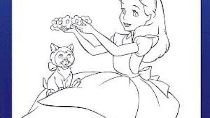 Coloriage Alice au Pays des Merveilles 2 - Disney