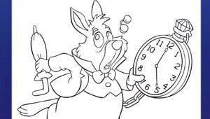 Coloriage Alice au Pays des Merveilles 5 - Disney