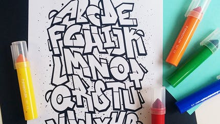 Coloriage Alphabet graffiti