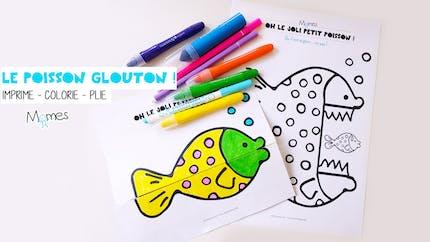 Coloriage animé : le poisson glouton !