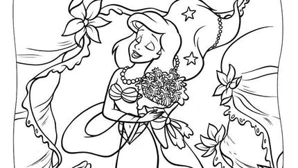 Coloriage Ariel la Petite Sirène