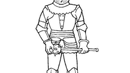 Coloriage armure de chevalier