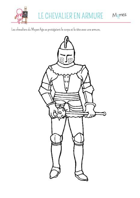 Coloriage Armure De Chevalier Momes Net