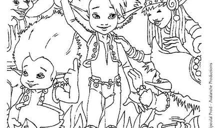 Coloriage Arthur et les Minimoys 7