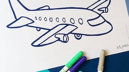 Coloriage Avion