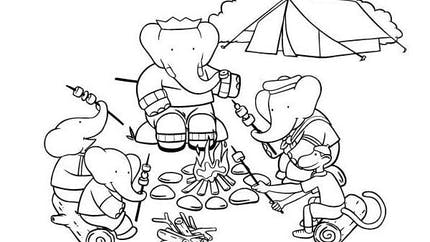 Coloriage Babar (1)
