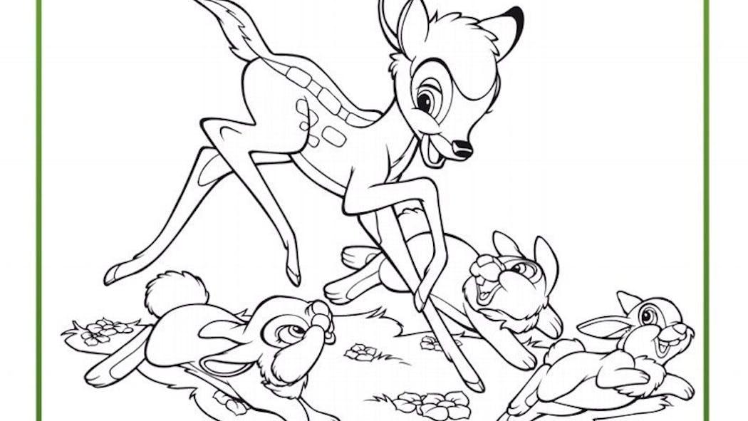Coloriage Bambi 8