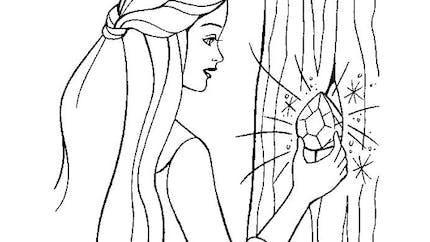 Coloriage Barbie et le diamant