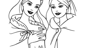 Coloriage Barbie princesse médiévale