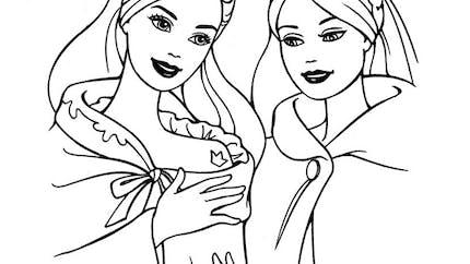 Coloriage Barbie princesse médiévale