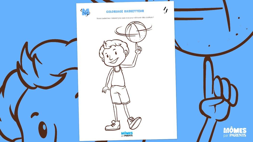 Coloriage Basketteur