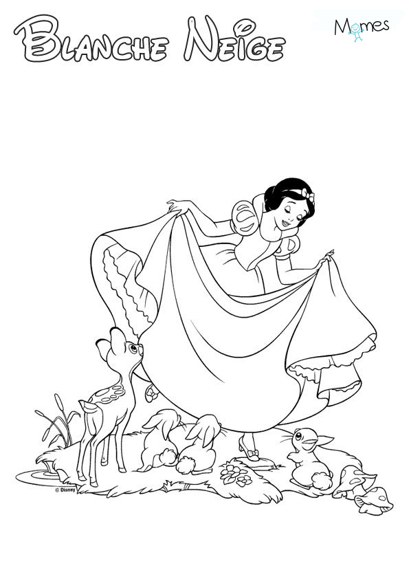 Coloriage Blanche Neige Momes Net
