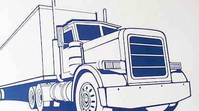 coloriage camion à imprimer