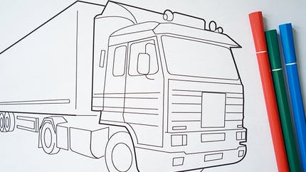 Coloriage camion (3)